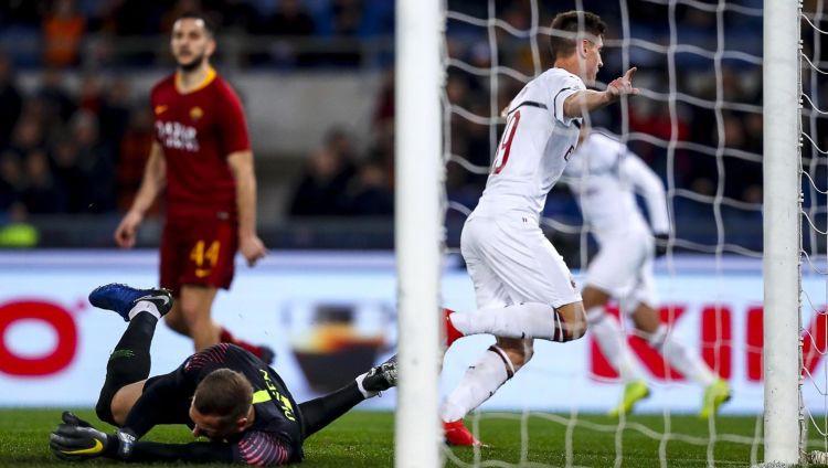 """Pjonteks vēlreiz iesit, """"Milan"""" spēlē neizšķirti Romā, """"Inter"""" negaidīta sakāve"""
