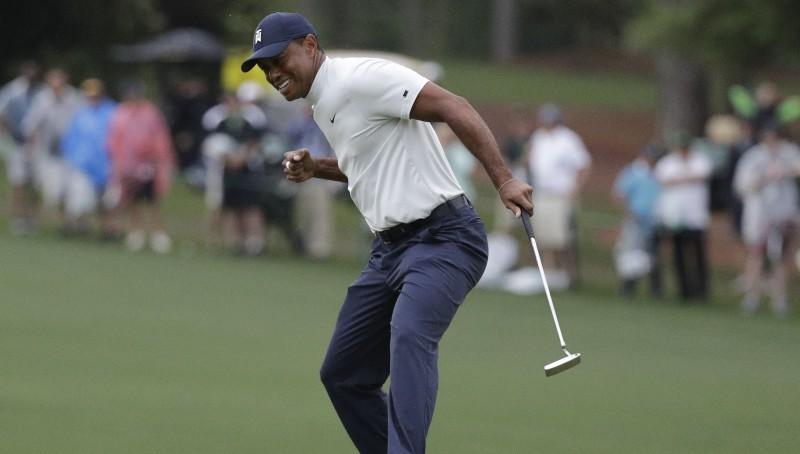 """""""Masters"""" līdera godā pieci golferi, Vudss viena sitiena attālumā"""
