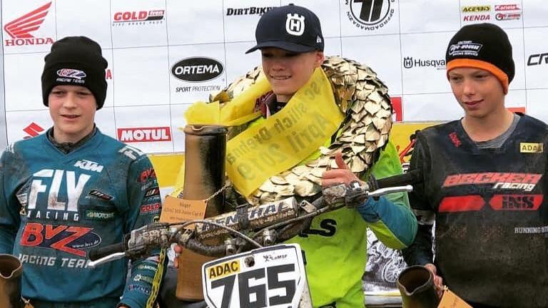 Bidzānam uzvara Vācijas motokrosa čempionātā MX85 klasē, Sabulim savā klasē 5.vieta