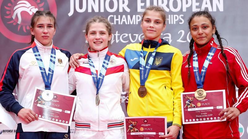 Cīkstone Mamedova sensacionāli izrauj junioru Eiropas čempionāta bronzu