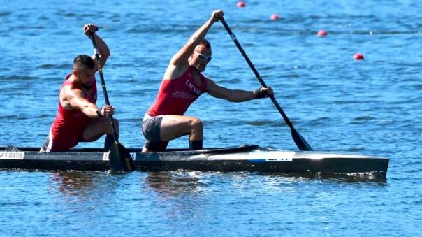 Kanoe airētāji Pranks un Tints izcīna 17. vietu pasaules čempionātā