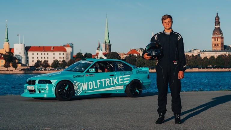 ''Gymkhana Grid'' uz starta izies divi latvieši, viens no tiem 14 gadus vecais Nikolass Bertāns