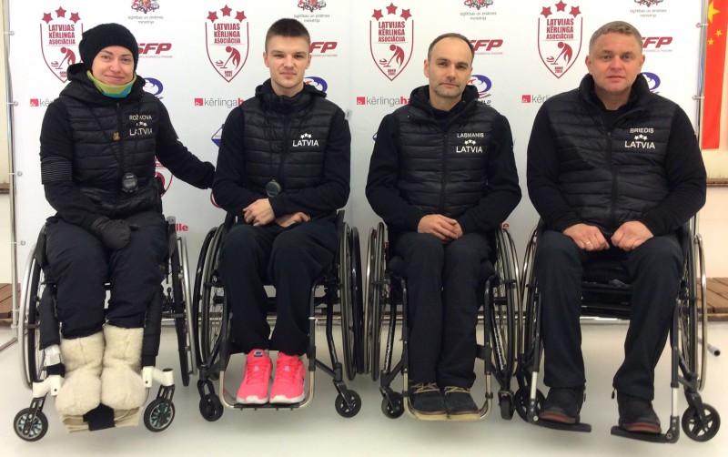 Latvijas ratiņkērlinga izlasei 2. vieta turnīrā Rīgā, uzvar igauņi