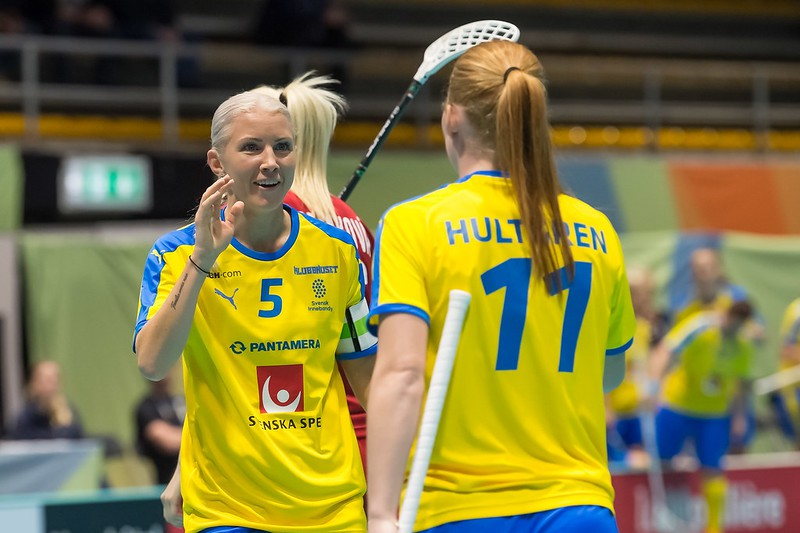 Zviedru florboliste Vijka kļuvusi par visu laiku rezultatīvāko PČ spēlētāju