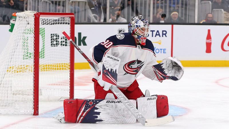 Merzļikins – NHL līderis gan sausajās spēlēs, gan atvairīto metienu procentā