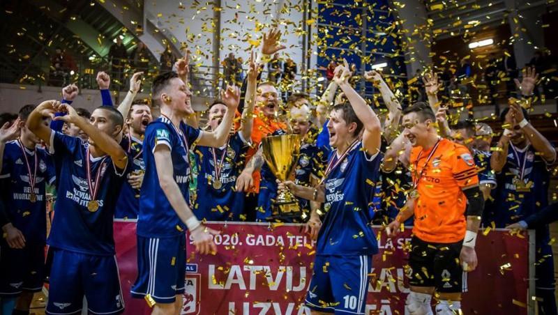 """""""Raba"""" Talsos izcīna sauso uzvaru un trešo reizi triumfē Latvijas kausā"""