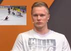 """Video: R. Ābols: """"Īsti nesapratu, ko izdarīju, taču IIHF topā <i>gola</i> nebija"""""""