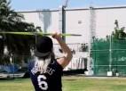 Video: Porziņģa kreklā Diāna Dadzīte gatavojas pasaules čempionātam