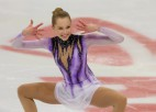 Daiļslidotāja Lāce triumfē Odesā un izpilda pasaules čempionāta normatīvu