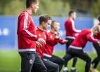 U-21 futbola izlase Skonto stadionā pret vienaudžiem no Krievijas