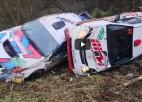 Video: Krievijas rallijā vienā līkumā avarē četras ekipāžas