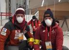 Brāļi Šici priecīgi iemēģināt Pekinas olimpisko spēļu trasi