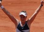 """Gofa neizmanto piecas setbumbas, Krejčīkova pirmoreiz tiek """"Grand Slam"""" pusfinālā"""