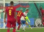 Video: Beļģijas futbolisti Sanktpēterburgā sakauj krievus