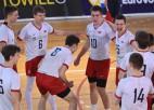 """Latvijas U17 volejbolisti apspēlē Slovēniju, iegūstot vietu Eiropas """"top 8"""""""