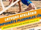 Saulkrastos notiks Latvijas atklātais čempionāts pludmales cīņā