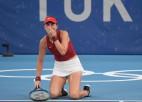 Dāmu tenisa olimpisko zeltu sadalīs Benčiča un Vondrušova