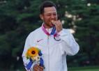 Tokijas olimpisko spēļu golfa turnīrā triumfē amerikānis Šofelī