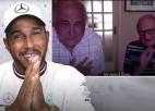 F1 čempions Hamiltons aprunājas ar 105 gadus vecu līdzjutēju
