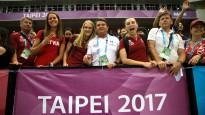 Latvijas sprinteres līksmo par basketbolistu panākumiem Taivānā