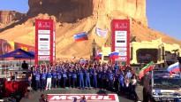 Video: 8000 km garā Dakaras rallija finišā priecīgi ir visi