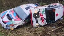 Krievijas rallijā vienā līkumā avarē četras ekipāžas