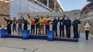 Ķibermaņa četrinieks olimpiskajā trasē kāpj uz goda pjedestāla trešā pakāpiena