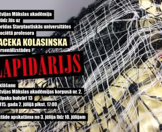 """Latvijas Mākslas akadēmijā aplūkojama Jaceka Kolasinska izstāde """"Lapidārijs"""""""