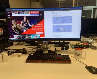 Videospeciālists: Philips 349P7FUBEB monitoru lietoju kā divus parastos
