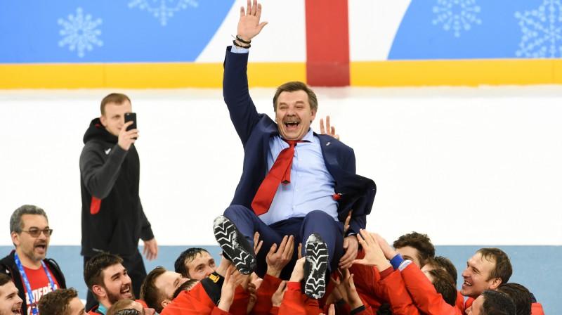 Oļegs Znaroks Phjončhanas olimpiskajās spēlēs  Foto: fhr.ru