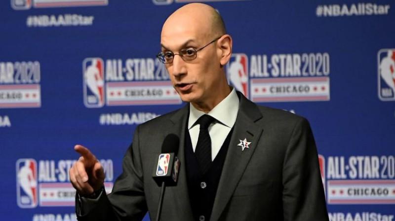 NBA komisārs Adams Silvers. Foto: AFP/Scanpix
