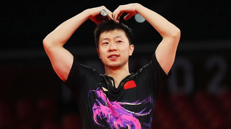 Divkārtējais olimpiskais čempions galda tenisā ķīnietis Longs Mā. Foto: Luisa Gonzalez/Reuters/Scanpix