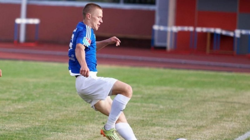 """""""Rēzeknes"""" futbolists Armans Galajs. Foto: Futbola Pirmā līga"""