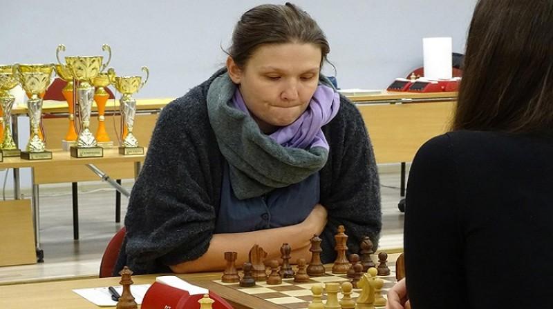 Vienpadsmitkārtējā Latvijas čempione Laura Rogule. Foto: Latvijas šaha federācija.