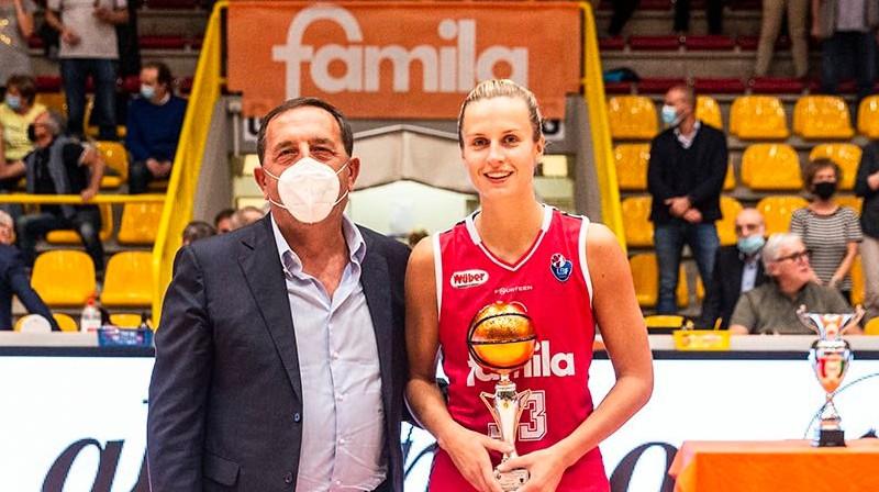 Kitija Laksa. Foto: Lega Basket Femminile