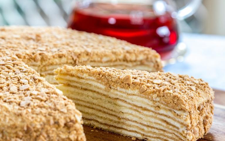 Torte NAPOLEONS. Klasiskā recepte