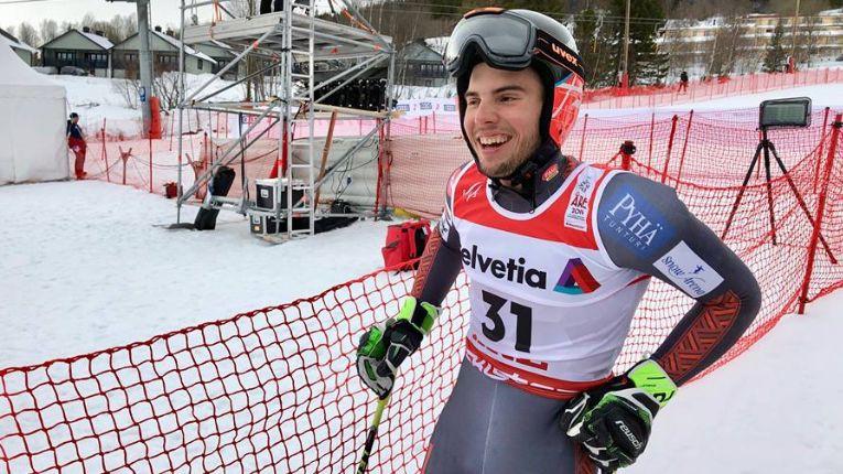Kalnu slēpotājam Gedram 39. vieta pasaules čempionāta milzu slalomā