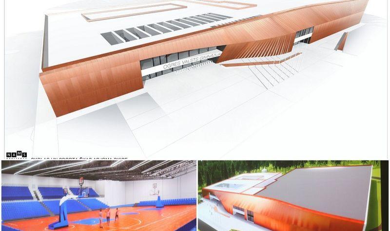 Vērienīgā projektā Ogrē plānot celt sporta halli ar 1500 skatītāju vietām