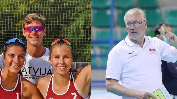 Gada treneri Latvijas volejbolā - Finsters un Kēls