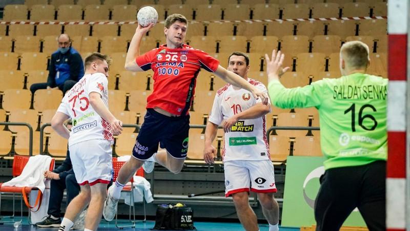 Norvēģijas handbolisti Latvijas izlases grupā revanšējas Baltkrievijas B izlasei