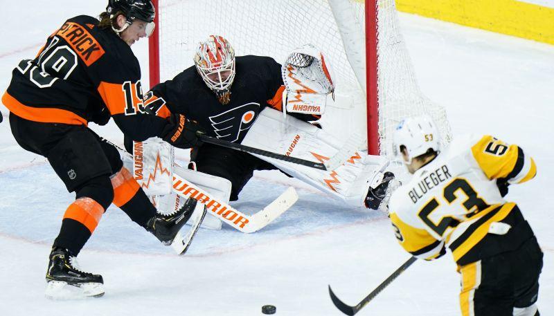 """Bļugeram rezultatīva piespēle, """"Penguins"""" 10 vārtu mačā revanšējas """"Flyers"""""""
