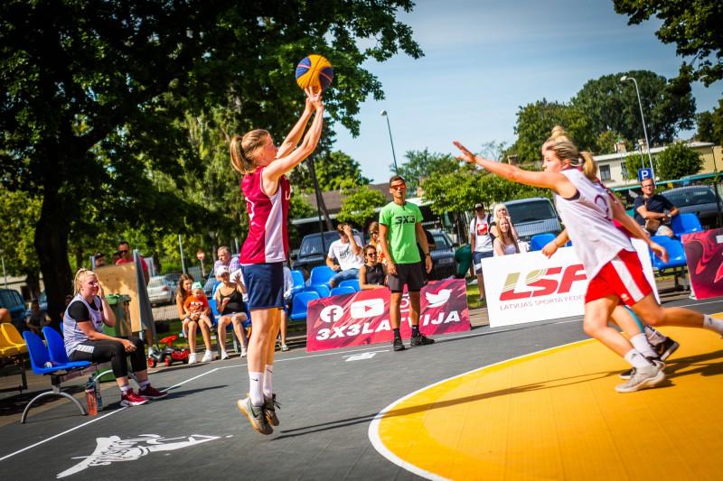 """3x3 basketbolā """"Top Gun"""" izziņo 500 eiro prēmiju sieviešu grupas čempionēm 31. jūlijā Ogrē"""