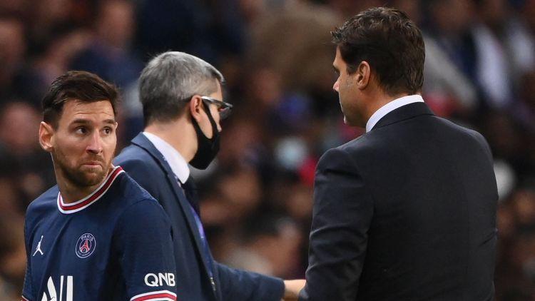 """PSG treneris Početino noliedz konfliktu ar Mesi: """"Viņš teica, ka viss ir kārtībā"""""""