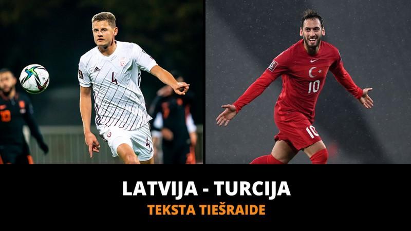 Teksta tiešraide: Latvija - Turcija 1:2 (Spēle galā)